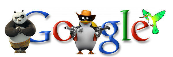 Google Panda, Penguine and Humming bird