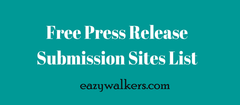 Free-Press-Release-Submission-Sites-List